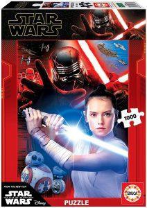 Los mejores puzzles de Star Wars - Puzzle de Star Wars de Rey vs Kylo de 1000 piezas de Educa - Personajes del Universo de Star Wars