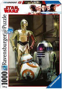 Los mejores puzzles de Star Wars - Puzzle de Star Wars de droides de 1000 piezas - Personajes del Universo de Star Wars