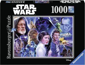 Los mejores puzzles de Star Wars - Puzzle de Star Wars de personajes de 1000 piezas de Ravensburger - Personajes del Universo de Star Wars