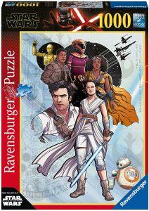 Los mejores puzzles de Star Wars - Puzzle de Star Wars de personajes de 1000 piezas del Episodio IX de Ravensburger - Personajes del Universo de Star Wars