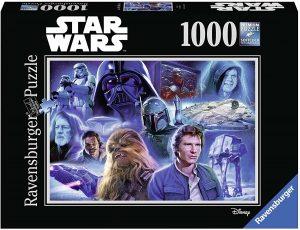 Los mejores puzzles de Star Wars - Puzzle de Star Wars de trilogía original de 1000 piezas - Personajes del Universo de Star Wars