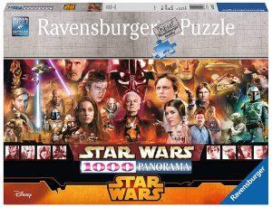 Los mejores puzzles de Star Wars - Puzzle de panorama de personajes de Star Wars de 1000 piezas de Ravensburger - Personajes del Universo de Star Wars
