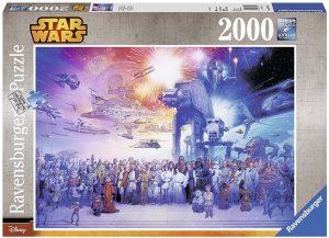 Los mejores puzzles de Star Wars - Puzzle de personajes de Star Wars de 2000 piezas de Ravensburger - Personajes del Universo de Star Wars