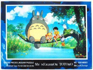 Los mejores puzzles de Studio Ghibli del viaje de Chihiro - Totoro - Puzzle de Mi vecino Totoro pescando de 1000 piezas