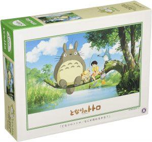 Los mejores puzzles de Studio Ghibli del viaje de Chihiro - Totoro - Puzzle de Mi vecino Totoro pescando de 500 piezas