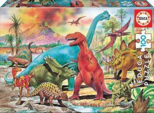 Los mejores puzzles de T-Rex - Puzzle de T-Rex de 100 piezas de Educa
