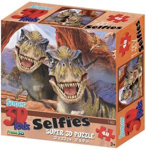 Los mejores puzzles de T-Rex - Puzzle de T-Rex selfie de 48 piezas de Howard Robinson