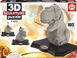 Los mejores puzzles de T-Rex - Puzzle de Tiranosaurio Rex en 3D de 160 piezas de Educa