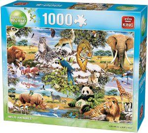 Los mejores puzzles de animales - Puzzles de animales de todo el mundo de 1000 piezas de King