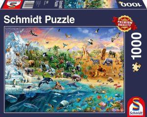Los mejores puzzles de animales - Puzzles de animales de todo el mundo de 1000 piezas de Schmidt
