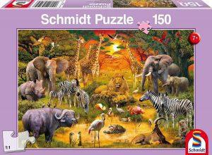 Los mejores puzzles de animales - Puzzles de animales salvajes de 150 piezas de Schmidt
