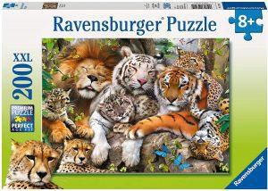 Los mejores puzzles de animales - Puzzles de felinos de 200 piezas de Ravensburger