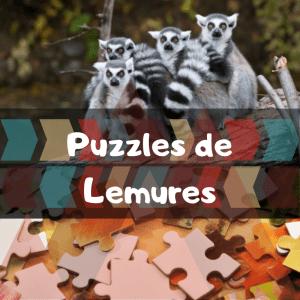 Los mejores puzzles de animales salvajes - Puzzles de lemures - Comprar puzzle de lemur
