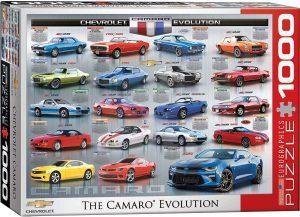 Los mejores puzzles de coches - Puzzle de The Camaro Evolution de 1000 piezas de Eurographics