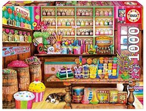 Los mejores puzzles de gominolas y caramelos - Puzzle de la Tienda de Dulces de 1000 piezas de Educa