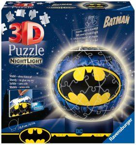 Los mejores puzzles de lámparas nocturnas en 3D de Ravensburger - Puzzle de lámpara nocturna de Batman de 72 piezas de Ravensburger