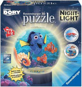 Los mejores puzzles de lámparas nocturnas en 3D de Ravensburger - Puzzle de lámpara nocturna de Buscando a Dory de 72 piezas de Ravensburger