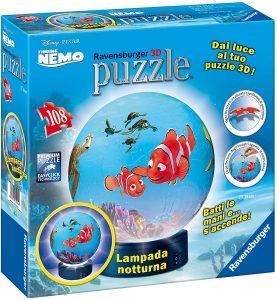 Los mejores puzzles de lámparas nocturnas en 3D de Ravensburger - Puzzle de lámpara nocturna de Buscando a Nemo de 108 piezas de Ravensburger