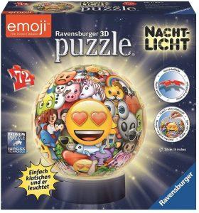 Los mejores puzzles de lámparas nocturnas en 3D de Ravensburger - Puzzle de lámpara nocturna de Emoji de 72 piezas de Ravensburger