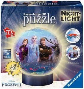 Los mejores puzzles de lámparas nocturnas en 3D de Ravensburger - Puzzle de lámpara nocturna de Frozen 2 de 72 piezas de Ravensburger