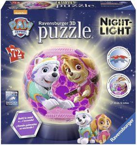 Los mejores puzzles de lámparas nocturnas en 3D de Ravensburger - Puzzle de lámpara nocturna de La Patrulla Canina 2 de 72 piezas de Ravensburger