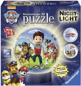 Los mejores puzzles de lámparas nocturnas en 3D de Ravensburger - Puzzle de lámpara nocturna de La Patrulla Canina de 72 piezas de Ravensburger