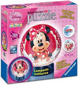 Los mejores puzzles de lámparas nocturnas en 3D de Ravensburger - Puzzle de lámpara nocturna de Minnie Mouse de 108 piezas de Ravensburger