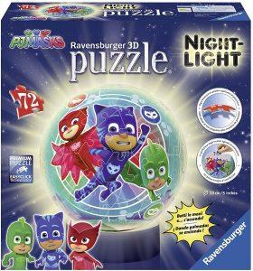 Los mejores puzzles de lámparas nocturnas en 3D de Ravensburger - Puzzle de lámpara nocturna de PJ Masks de 72 piezas de Ravensburger