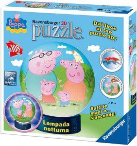 Los mejores puzzles de lámparas nocturnas en 3D de Ravensburger - Puzzle de lámpara nocturna de Peppa Pig de 108 piezas de Ravensburger
