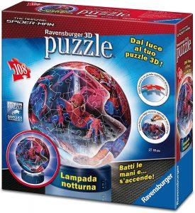 Los mejores puzzles de lámparas nocturnas en 3D de Ravensburger - Puzzle de lámpara nocturna de Spiderman de 108 piezas de Ravensburger