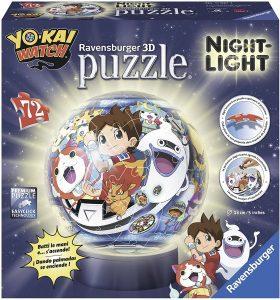 Los mejores puzzles de lámparas nocturnas en 3D de Ravensburger - Puzzle de lámpara nocturna de Yo-Kai Watch de 72 piezas de Ravensburger