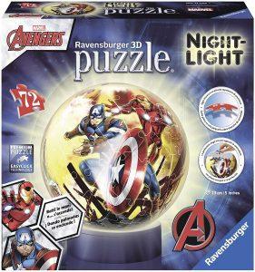Los mejores puzzles de lámparas nocturnas en 3D de Ravensburger - Puzzle de lámpara nocturna de los Vengadores de 72 piezas de Ravensburger