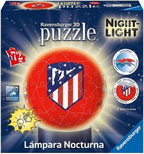 Los mejores puzzles de lámparas nocturnas en 3D de Ravensburger - Puzzle de lámpara nocturna del Atlético de Madrid de 72 piezas de Ravensburger
