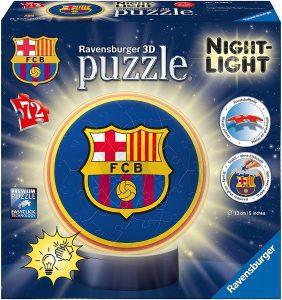 Los mejores puzzles de lámparas nocturnas en 3D de Ravensburger - Puzzle de lámpara nocturna del FC Barcelona de 72 piezas de Ravensburger