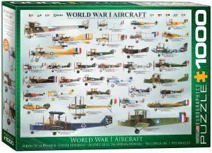 Los mejores puzzles de la Guerra Mundial - Puzzle de Aviones de la Primera Guerra Mundial de 1000 piezas de Eurographics