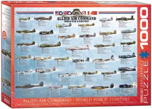 Los mejores puzzles de la Guerra Mundial - Puzzle de Aviones de la Segunda Guerra Mundial de 1000 piezas de Eurographics