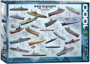 Los mejores puzzles de la Guerra Mundial - Puzzle de Buques de la Segunda Guerra Mundial de 1000 piezas de Eurographics