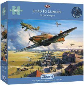 Los mejores puzzles de la Guerra Mundial - Puzzle de Road to Dunkirk de la Segunda Guerra Mundial de 1000 piezas de Eurographics