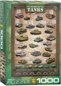 Los mejores puzzles de la Guerra Mundial - Puzzle de historias de Tanques de 1000 piezas de Eurographics