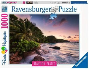 Los mejores puzzles de las islas Seychelles - Puzzle de las Islas Seychelles de anochecer de 1000 piezas de Ravensburger