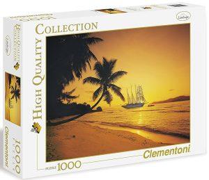 Los mejores puzzles de las islas Seychelles - Puzzle de las Islas Seychelles de atardecer de 1000 piezas de Clementoni