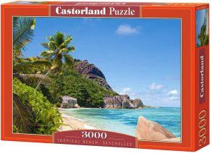Los mejores puzzles de las islas Seychelles - Puzzle de las Islas Seychelles de playa tropical de 3000 piezas de Castorland
