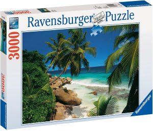 Los mejores puzzles de las islas Seychelles - Puzzle de las Islas Seychelles de playa tropical de 3000 piezas de Ravensburger