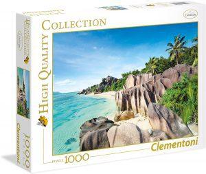 Los mejores puzzles de las islas Seychelles - Puzzle de playa en las Islas Seychelles de 1000 piezas de Clementoni