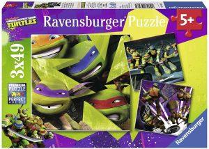 Los mejores puzzles de las tortugas ninja - Puzzle de las tortugas Ninja de 3x49 piezas de Ravensburger