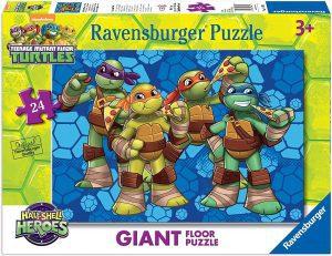 Los mejores puzzles de las tortugas ninja - Puzzle de las tortugas Ninja de suelo de 24 piezas de Ravensburger
