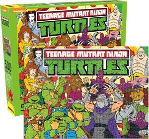 Los mejores puzzles de las tortugas ninja - Puzzle de personajes de las tortugas Ninja Teen de 500 piezas de Aquarius
