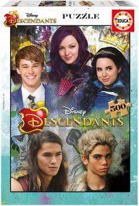 Los mejores puzzles de los Descendientes - Puzzles de The Descendants - Puzzle de los Descendientes de Disney de 500 piezas de Educa