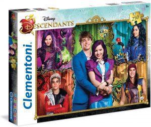 Los mejores puzzles de los Descendientes - Puzzles de The Descendants - Puzzle de personajes de los Descendientes de Disney de 250 piezas de Clementoni