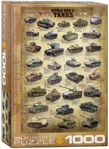 Los mejores puzzles de tanques - Puzzle de historia de los tanques de la Segunda Guerra Mundial de 1000 piezas de Eurographics